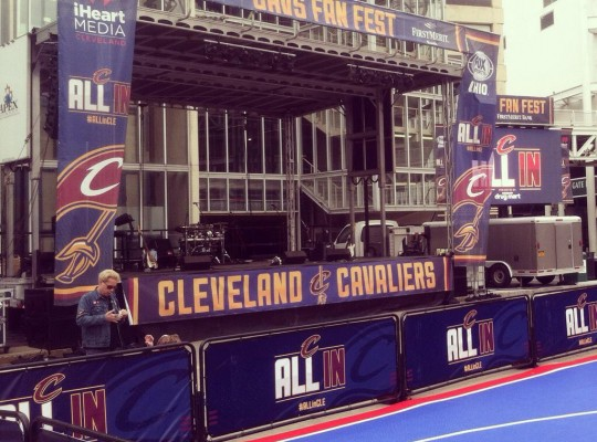 cavs fan fest stage